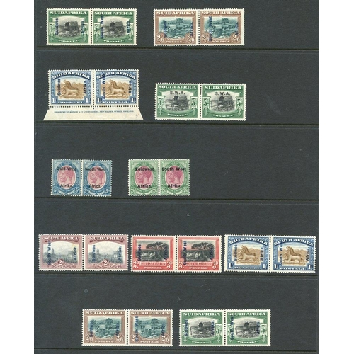 1469 - 1913 Defin M or UM Plate pairs/strips/blocks vals to 3d, 1½d irregular block of 23 wmk inverted incl...