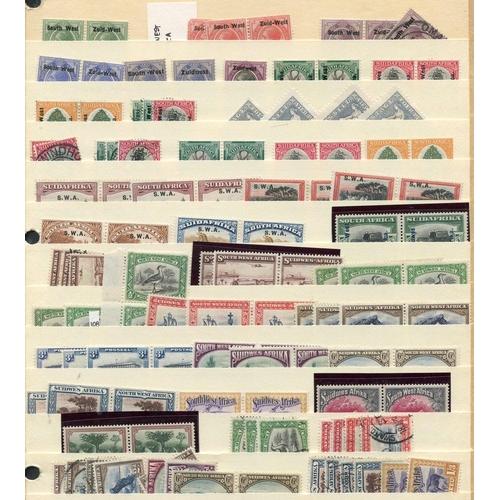 1471 - 1923-66 M & U ranges on black stock leaves incl. 1933 Voortrekker set (3), 1938 Voortrekker, 1938 Hu...