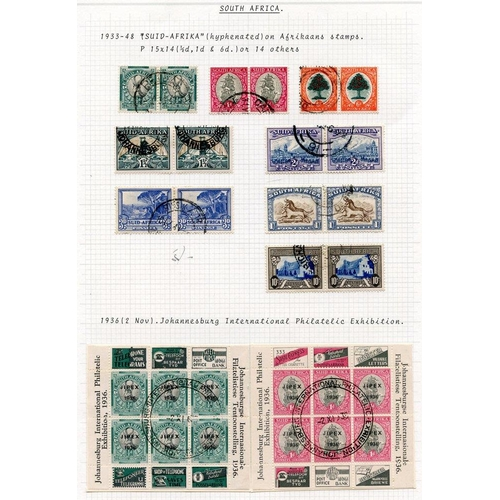 1476 - 1933-51 KGVI collection VFU incl. 1933 vals to 10s (excl. 5s), 1936 Exhibition sheets, 1937 Coronati...