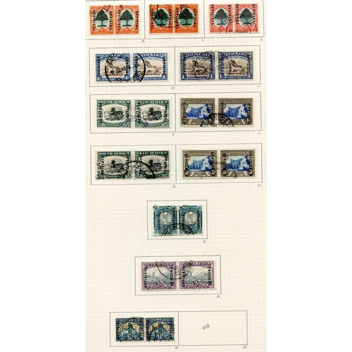 1477 - 1936-64 collection U on philatelic leaves with much useful material incl. 2d bantam War 'line on cap...