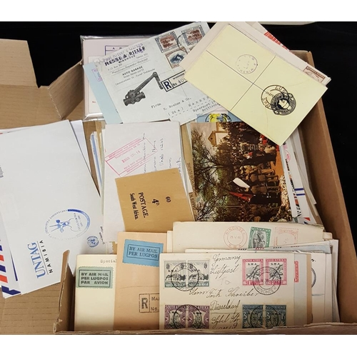 1479 - 20thC large accumulation of covers, letters, postcards, WWI O.A.S Army Base P.O censored cover, O.A....