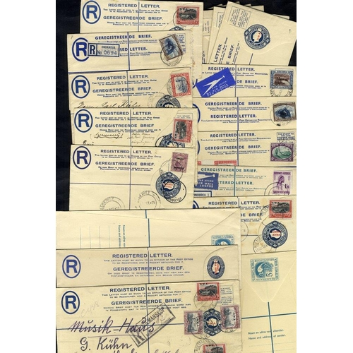 1484 - 1923-61 registered stationery envelopes unused (12) & used(12), generally fine....