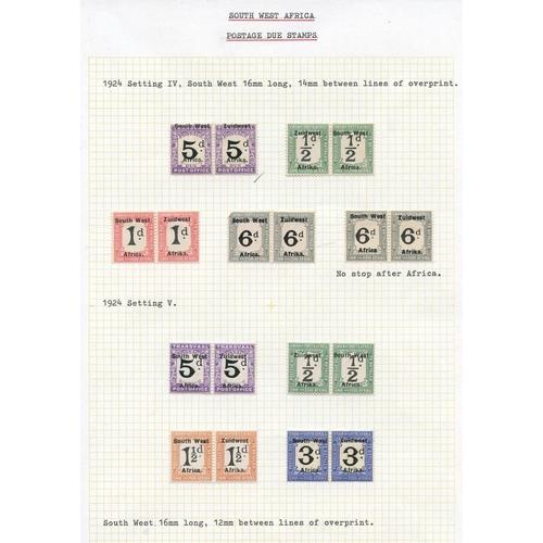1485 - POSTAGE DUES 1923-72 fine M range incl. 1923 II Setting 2d, 3d, 5d set also 2d & 3d without stop, 19...