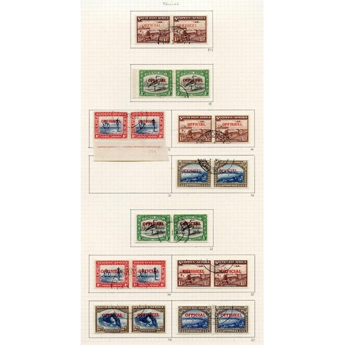 1487 - 1937-52 collection U on philatelic leaves, basic issues plus some shades; Officials with one of each...