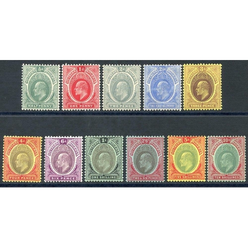 1490 - 1907-11 Colours Changed MCCA set to 10s M, SG.33/43. (11) Cat. £210...