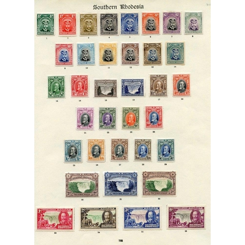 1491 - 1924-35 complete M range on a printed leaf comprising 1924 Admiral set, (the odd value is toned), 19...