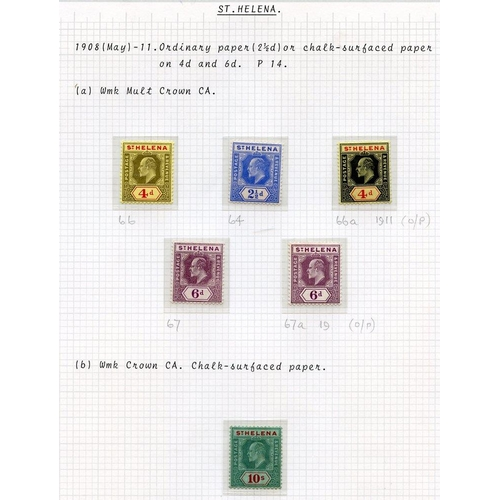 1501 - 1902 ½d & 1d SG.53/4, 1903 CCC set SG.55/60, 1908-11 MCCA/CCA set SG.64/70, 1912/13 4d + 6d (both) S...