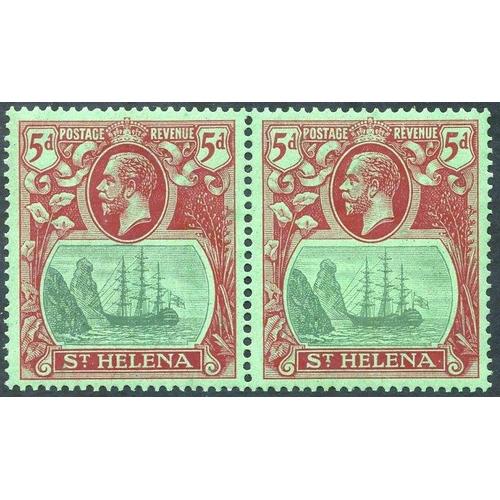 1504 - 1922-27 MSCA 5d, fine M pair incl. 'broken mainmast' SG.103a. (2) Cat. £280+...