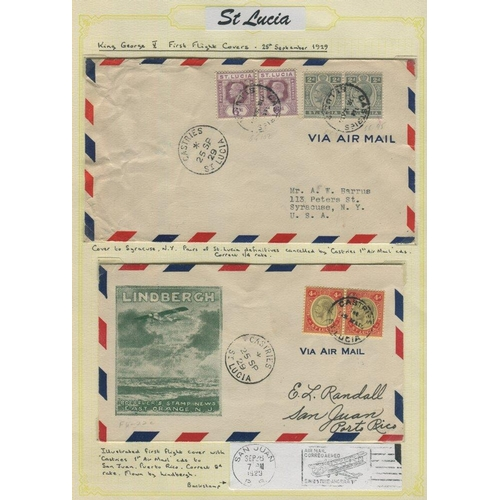 1521 - 1929-33 group of airmail covers to Virgin Islands (1), Puerto Rico (1) & USA (4) with attractive mix...