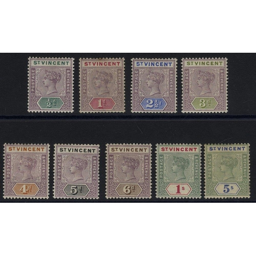 1526 - 1899 CCA set, M (odd minor fault), SG.67/75. (9) Cat. £140...