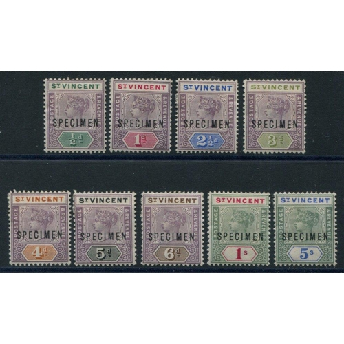 1527 - 1899 CCA set, optd SPECIMEN, fresh appearance, SG.67s/75s. (9) Cat. £170...