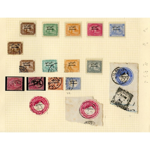 1532 - Collection on leaves with 1897 to 1pi & 5pi M, 1898 to 3p & 10p U, 1902-21 vals to 5p, 1927-41 to 20...