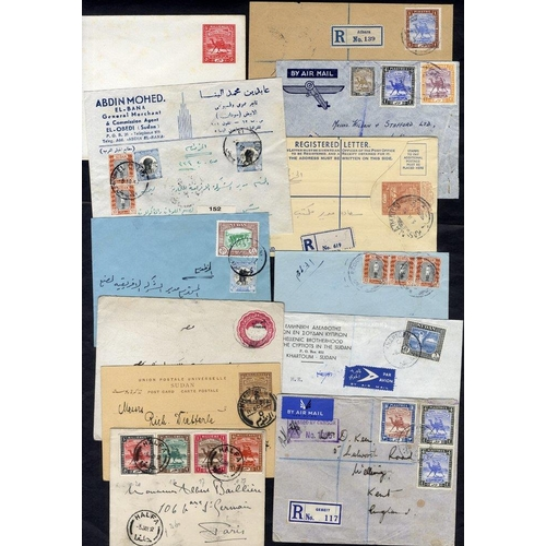 1533 - 1898-1957 covers (24) incl. unused registered stationery envelopes, envelopes, wrappers, cards etc. ...