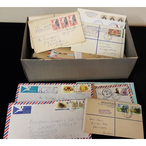 1539 - 20thC mid to late assembly of covers in shoe box, some early incoming mail, good postcards, covers w...