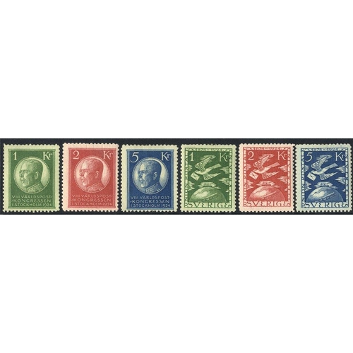 1550 - 1924-2002 UM or M run through collection housed in two Lighthouse hingeless albums incl. the 1924 Ei...