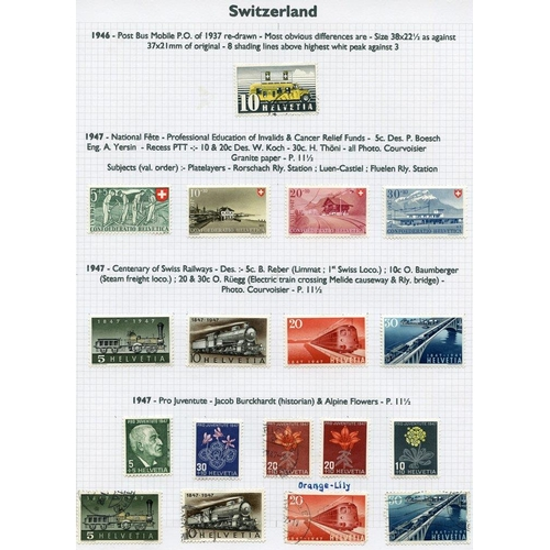 1555 - 1854-1999 collection of M & U (1417 stamps) + a few covers housed in two Alpha Major albums....