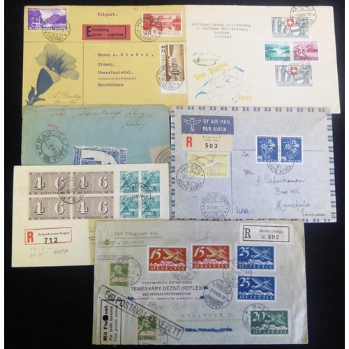 1558 - c1910-50 group of commercial cards & covers incl. registered, airmail, censored with uncommon noted ...