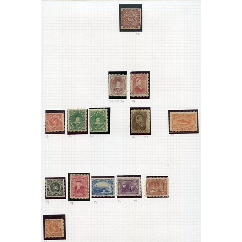 156 - BRITISH NORTH AMERICA on leaves with New Brunswick 1860-63 to 12½c, also 17c forgery, Nova Scotia 18...