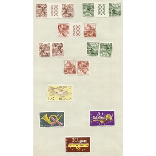1561 - 1923-57 attractive collection of M & U on leaves with many scarcer sets & singles noted throughout i...