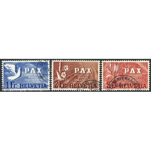 1562 - 1932-57 chiefly FU range on leaves, noted several better incl. 1945 PAX 1f, 2f & 5f FU (Cat. £840), ...
