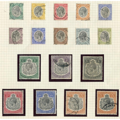 1565 - 1927-31 5c to £1 (2 shades), FU, SG.93/107, Cat. £1125....
