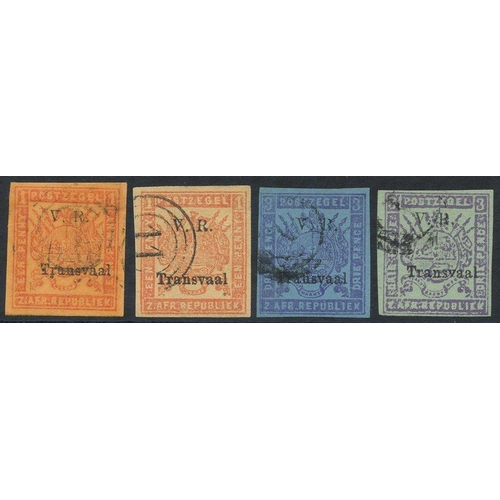 1576 - 1879 Imperf 1d both colours & 3d both colours, good to large margins, fine U, SG.147, 147b, 148 & 14...
