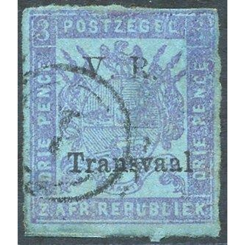 1579 - 1879 Roulette 3d mauve/blue, fine U, faint thin, SG.152. (1) Cat. £250...