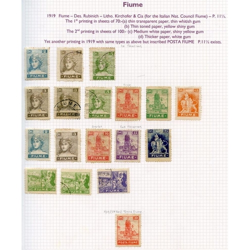158 - FOREIGN M & U collection housed in a ring binder, strength in Austria 1850-1970's, also Fiume, Danzi...