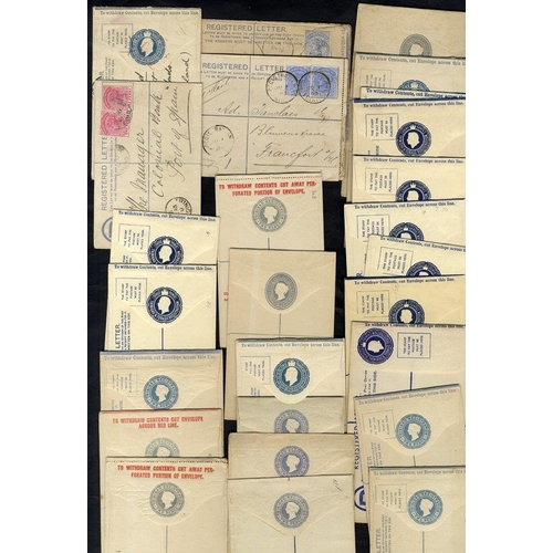 1585 - TRINIDAD 1884-1960 registered stationery envelopes (28) incl. 4 postally U (1891-1904) good to fine....