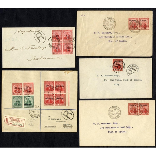 1589 - 1919 five covers addressed either locally or USA or Switzerland bearing single or multiple frankings...