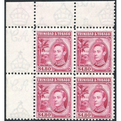 1591 - 1938-44 1c to $4.80 (12 vals), plus a set (excl. 1938 3c & 4c vals SG.248/9) in UM corner blocks of ...