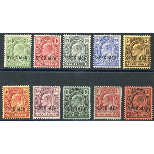 1597 - 1909-11 CCA ½d to 3s set (excl. the two lower vals), 6d & 2s have some paper adhesion on reverse, SG...
