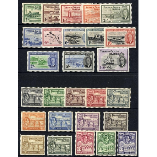 1599 - 1938 & 1950 KGVI Defin sets M, SG.195/205 & 221/233. (27) Cat. £215...