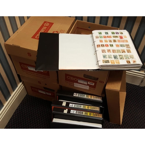 160 - WORLD COLLECTION housed in 30 ring binders M & U ranges incl. GB (2 albums), Germany (3 albums), Mal...