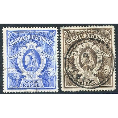 1600 - 1898-1902 CCC 1r & 5r VFU, SG.90a & 91. (2) Cat. £195...