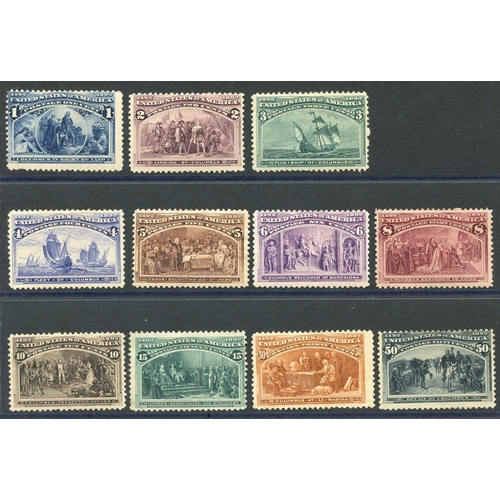 1610 - 1893 Columbian set to 50c, M (some faults) as is usual, the 15c & 50c are unused, SG.235/245. Cat. £...