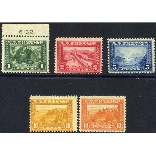 1612 - 1913 Panama - Pacific Exposition P.12 set, fine M, SG.423/7. (5) Cat. £425...