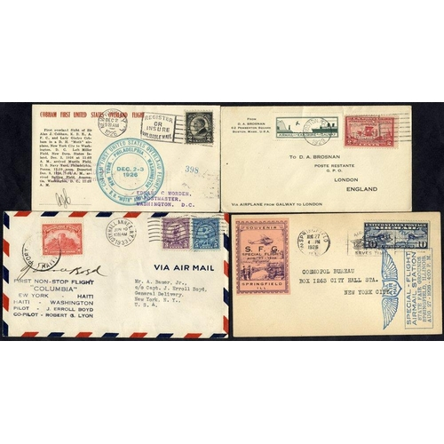 1614 - 1926-32 first flight covers (4) - 1926 CAM 2 Special State Fair flight Springfield - Chicago with sp...