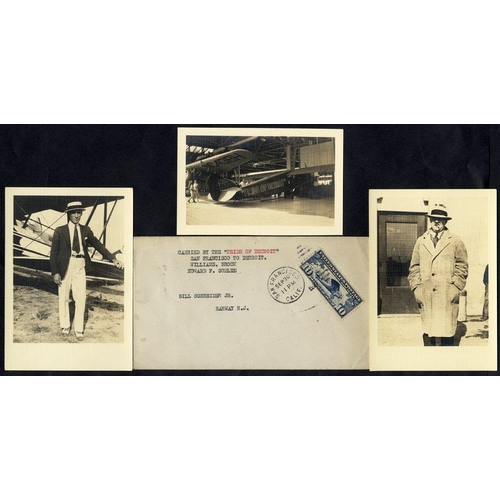 1615 - 1927 Brock & Schlee Pride of Detroit Round the World Flight attempt San Francisco - Detroit leg 30.9...