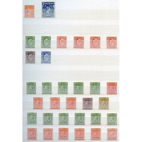 162 - BRITISH COMMONWEALTH chiefly M range (200+ stamps) in a stock book. Noted - Bahamas KGV £1 M (corner...