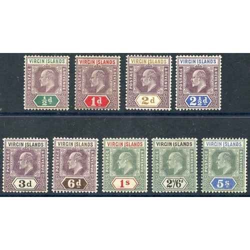 1625 - 1904 MCCA set, fine M, SG.54/62. (9) Cat. £110...