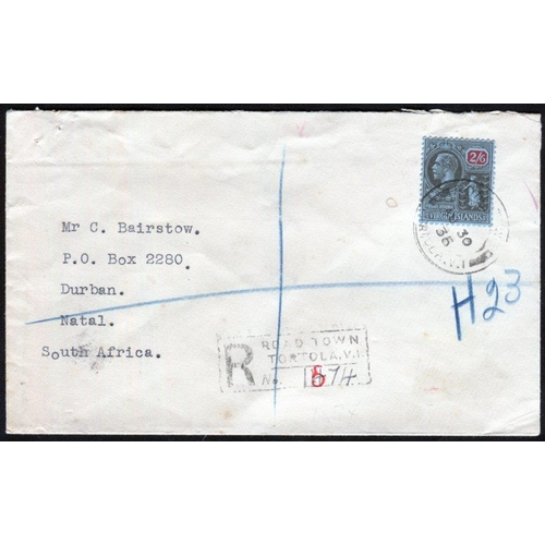 1626 - 1899-1936 selection of covers incl. 1899 ½d to 4d used on cover, registered to Germany, 1916-19 War ...