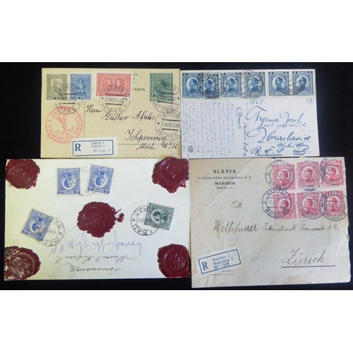 1627 - 1920's-30's covers - a good variety incl. insured money letter, many registered, card & provisional ...