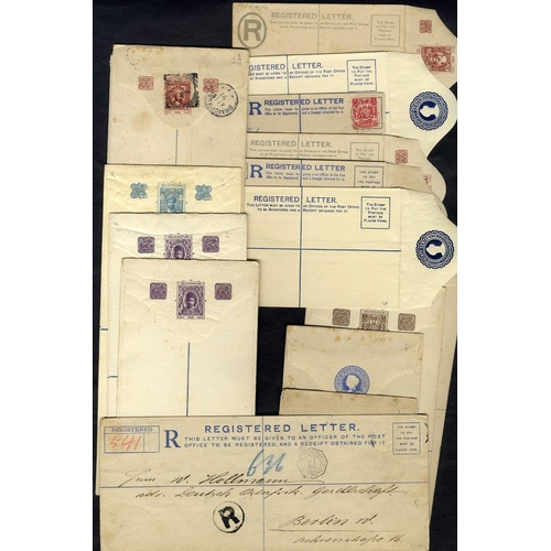 1630 - 1895-1940 circa range of 17 registered stationery envelopes in mixed condition, 4 are used (two with...
