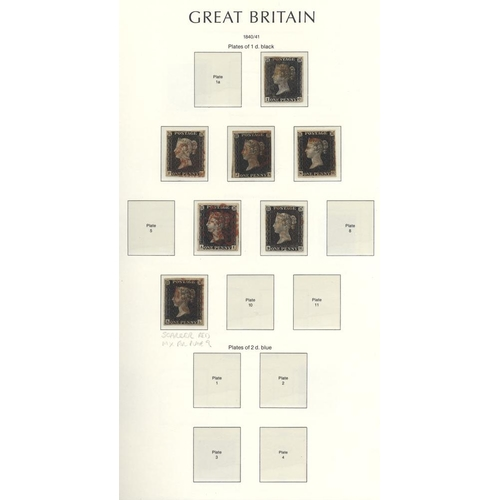 1637 - 1840-1970 COLLECTION housed in a Lighthouse hingeless album with 1840 penny blacks (8) mainly fine f...