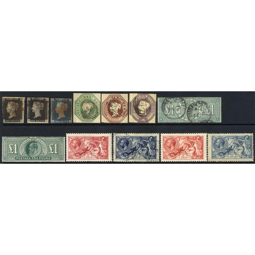 1638 - 1840-1989 COLLECTION of M & U housed on A4 pages in protective sleeves in four ring binders. 1840 1d...