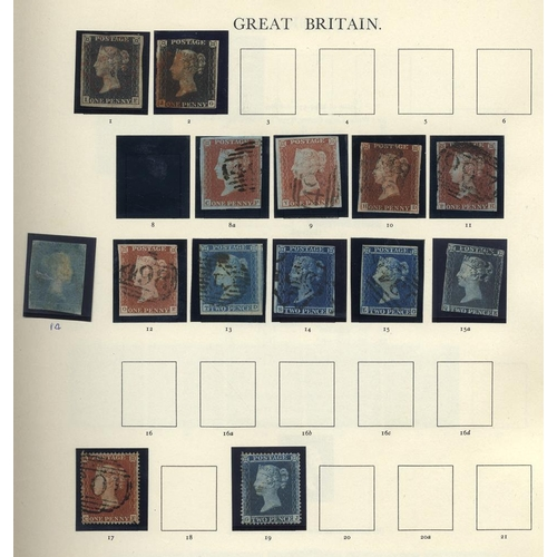 1644 - 1840-1983 COLLECTION of M & U housed in a Windsor album incl. 1840 1d (2), 1841 2d (4), 1868 1d Plat...