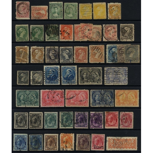 165 - BRITISH COMMONWEALTH M & U ranges on hagner leaves incl. Canada 1859 1c U, 12½c (2) U, a few Small Q...