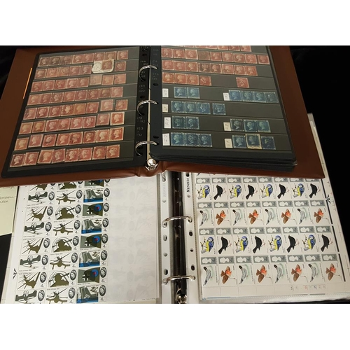1653 - 1840-1970 COLLECTION of M & U housed in two Prinz binders incl. 1840 1d black (4) - 3 with four marg...