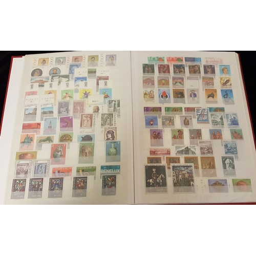 166 - LIECHTENSTEIN & LUXEMBOURG 1968-81 UM collection in a stock book. (556 + 9 m/s)...